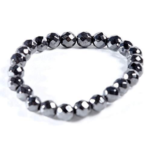 AIMANTIX-Bracelet-Hmatite-Magntique-Homme-et-Femme-Grosses-Billes-Bracelet-Aimant–Facettes-Apporte-de-lEnergie-et-de-lapaisement-Allie-Les-vertus-des-Minraux-et-des-Aimants-0