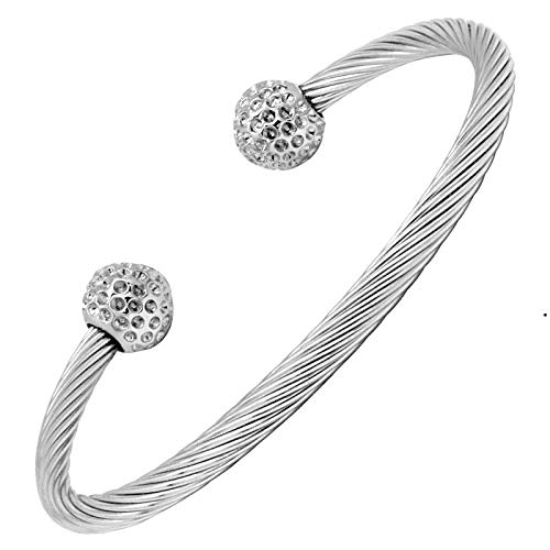 Bracelet-magntique-en-cble-inoxydable-avec-des-aimants-0