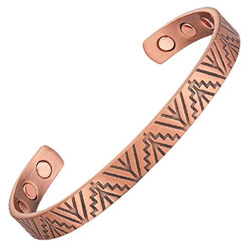 Bracelet-magntique-en-cuivre-avec-aimants-modle-Baobab-0