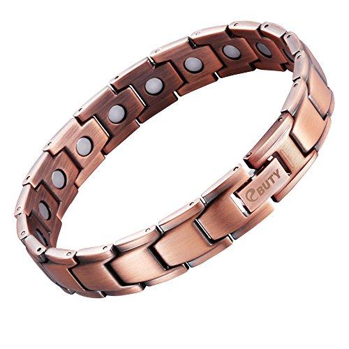 EBUTY-pour-Homme-Bracelet-magntique-en-cuivre-avec-Outil-Gratuit-pour-enlever-Liens-0