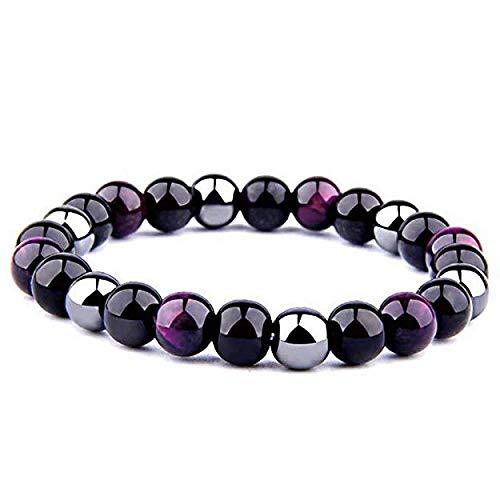 FG-Jewels-Bracelet-HommeFemme-Pierres-Naturelles-Lithothrapie-Bracelet-Triple-Protection-Bracelet-Perles-8mm-Bracelet-Bien-Etre-Bracelet-Porte-Bonheur-Cadeau-0