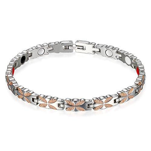 Flongo-Bracelet-pour-Femme-en-Acier-Titane-Charme-Papillon-Pierre-Magntique-Lien-Poignet-Argent-Rose-Chane-de-Main-Fantaisie-Bijoux-0